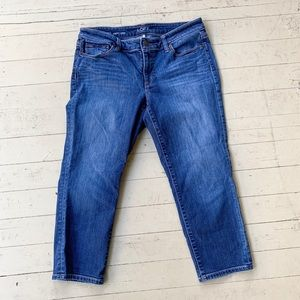Loft curvy crop jeans 30 10